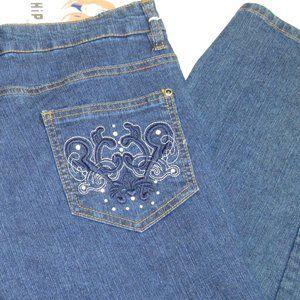 NWT Hip Jeans Size 20 Women Bluejeans Straight Leg